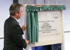 George Burley opens the football centre