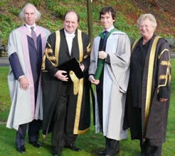 Dr Rory Stewart after receiving his degree