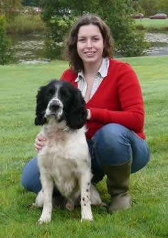 Toby the dog with handler Steph O'Connor