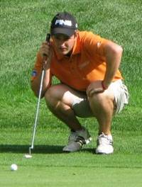 David Booth lines up a putt