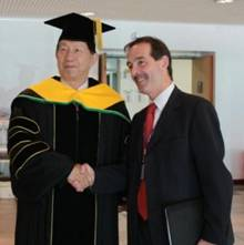 President Chou and Professor Grant Jarvie