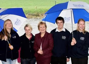 Stirling students at the launch of SEPA's flood awareness campaign