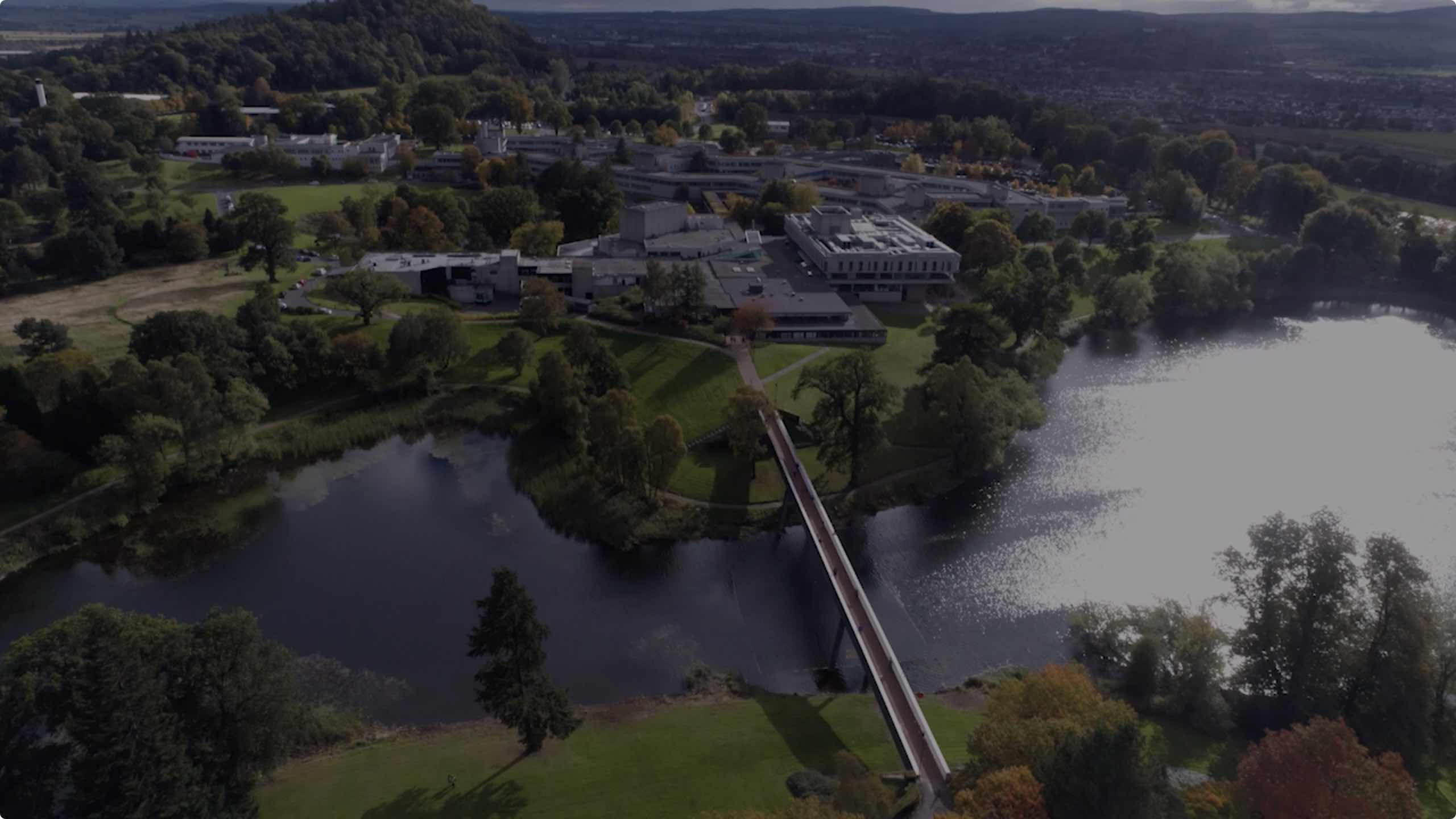 Aerial photograph of the University of Stirling campus