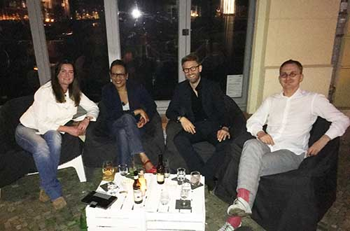 Graduates met Lindsey Donald, our Head of Development and Alumni Services at the Bryk Bar in Berlin