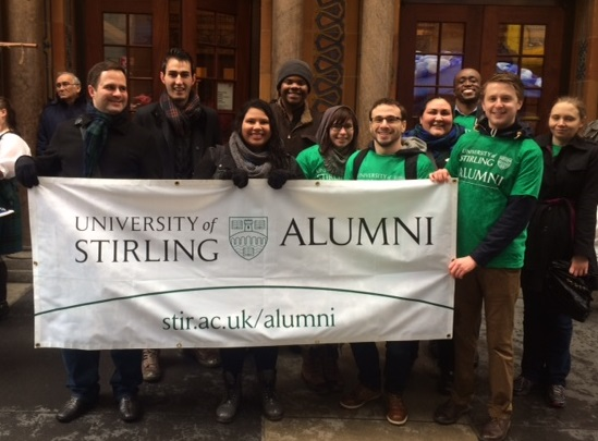 University of Stirling graduates gathered in New York City with Lindsey Donald, Head of Development and Alumni Services