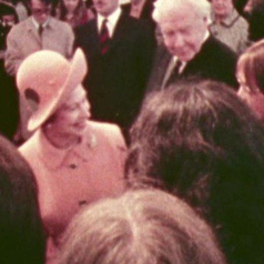 1972 Queen visiting the University of Stirling