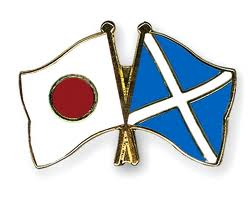 An image of Scottish and Japanese flags