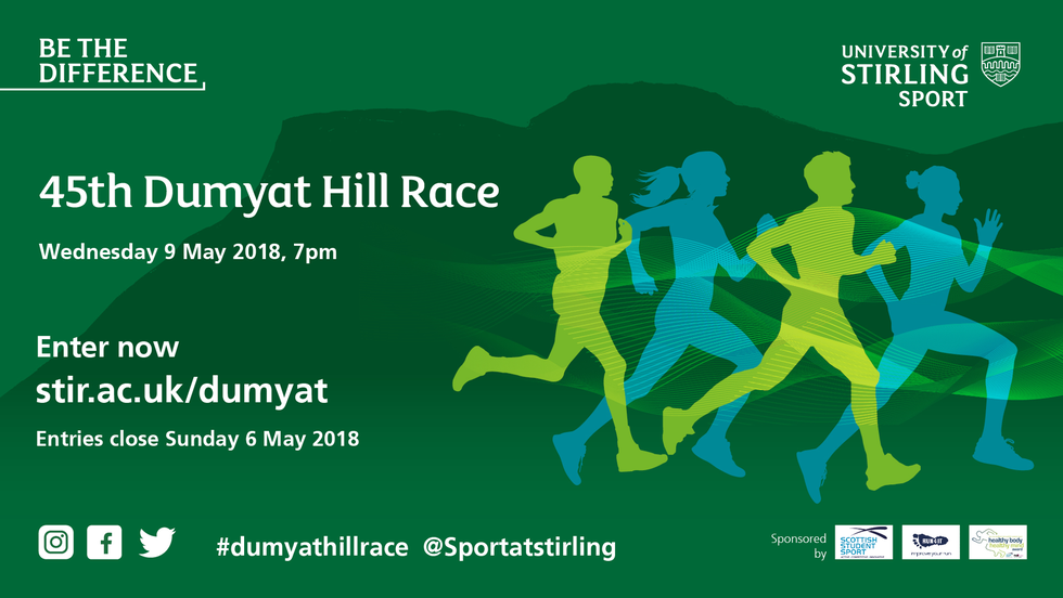 45th Dumyat Hill Race, Wednesday 9 May 2018, 7pm