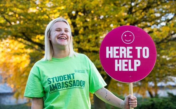 Student ambassador at open day