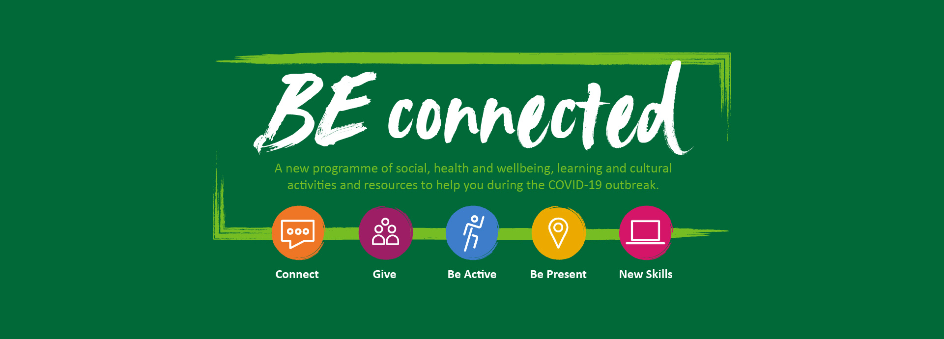 Be Connected logo banner