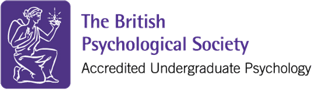 The British Psychological Society accreditation logo for Undergraduate Psychology
