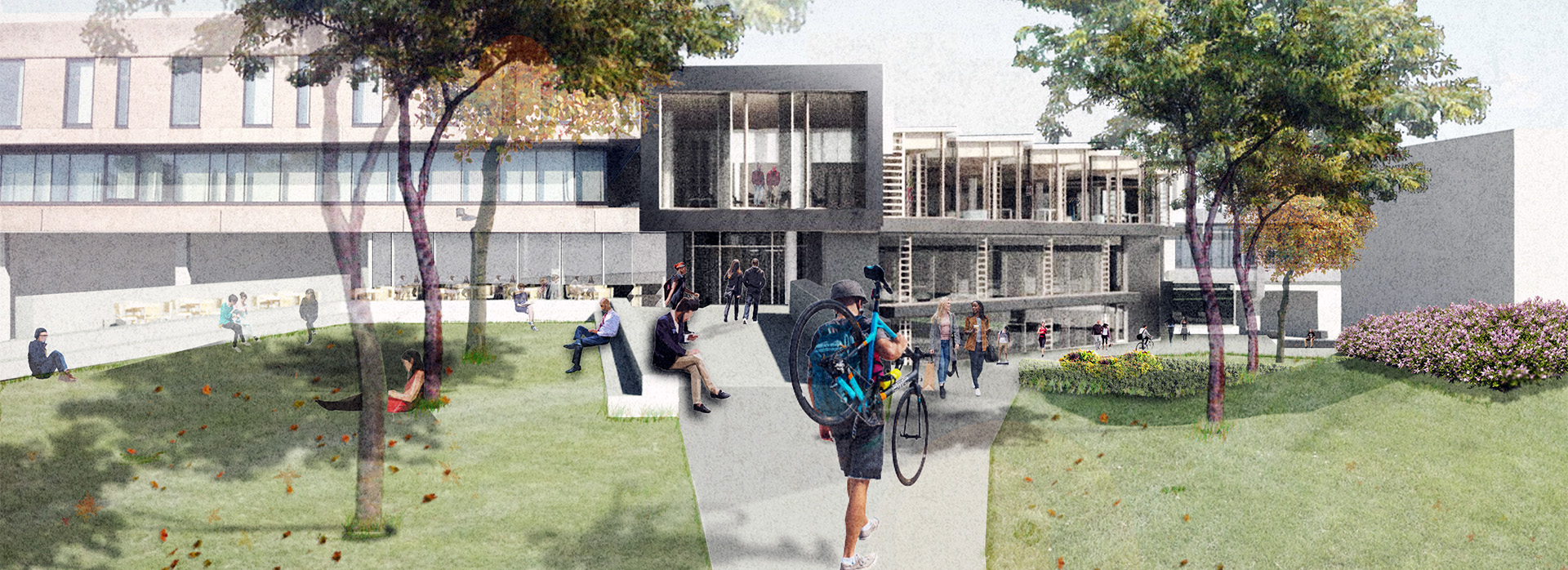 An artist's impression of how Campus Central will look when completed