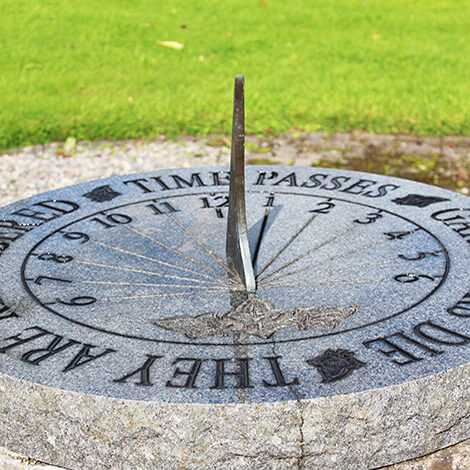 Sun dial in Garden of Time