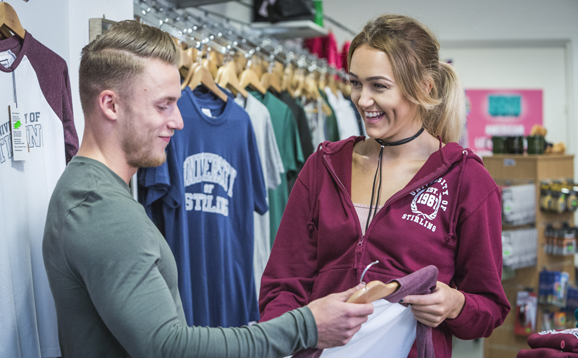 Students in Union shop