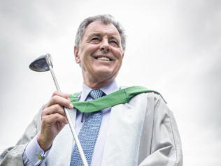 Students celebrate alongside Ryder Cup hero and leading sports psychologist at Stirling graduation