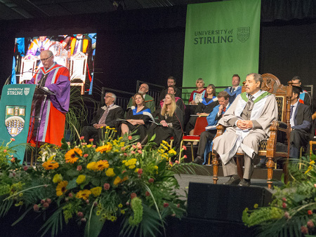 Students honoured alongside humanitarian and arts leaders at Stirling graduation