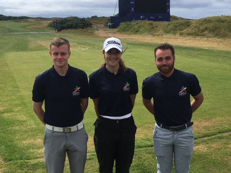 Stirling golfers team up for Glasgow 2018 at Ladies Scottish Open pro-am