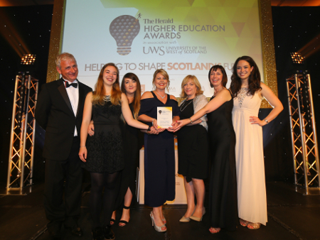 Stirling campaign recognised at The Herald Higher Education Awards