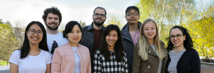 Dr Vander Viana (fourth from left) pictured alongside education students (L-R): Nguyen Duong Anh Minh, Stuart Milne, Yingying Wu, Puntavalee Svavasu, Peerapat Singlong, Bo Josefina Elisabeth Goldsmits and Marta Di Pierro.