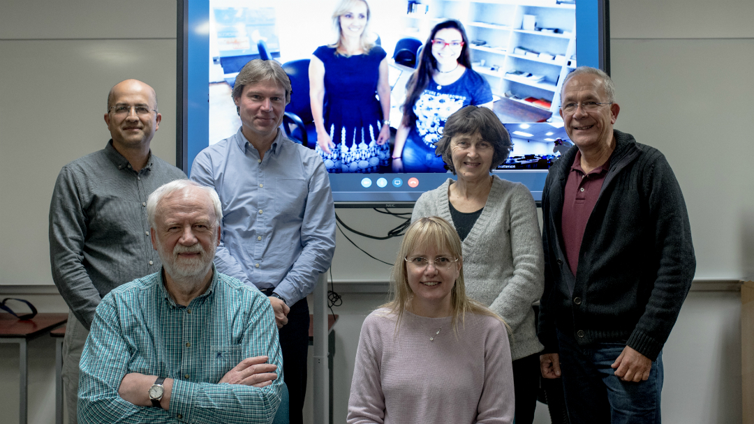 The project team, led by Professor Andrew Watterson (front left) met at Stirling to discuss the study