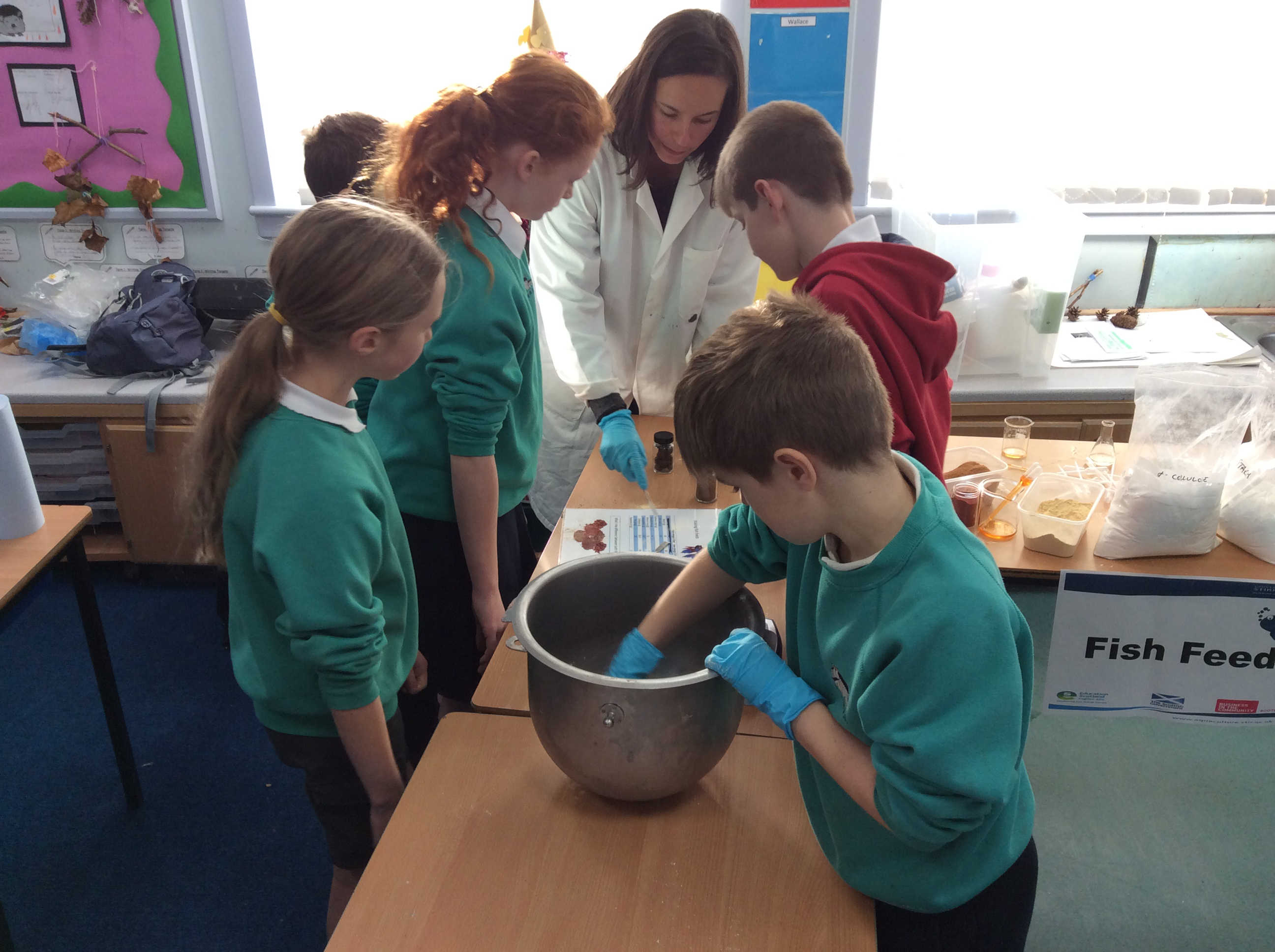 The hands-on lessons taught primary school pupils about the health benefits of eating fish