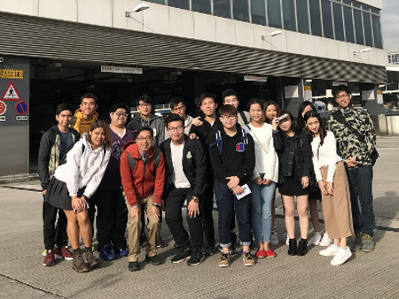 Stirling students pay flying visit to airline HQ in Hong Kong