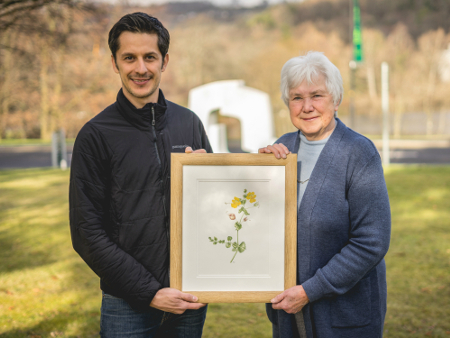 Former student's flower art sparks return to Stirling