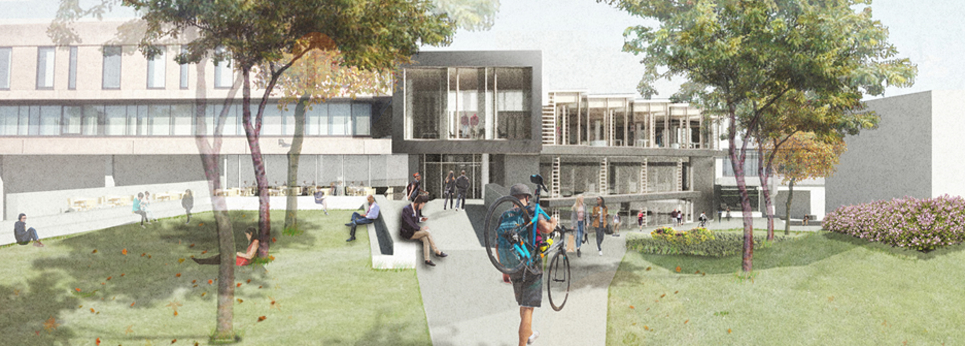 Artist's impression of exterior of Campus Central redevelopment