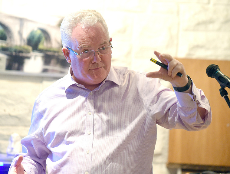 Professor Gerry McCormac gives a presentation on carbon dating