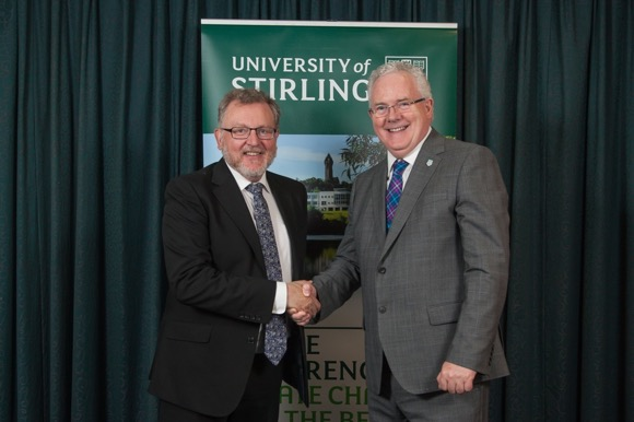 David Mundell MP with Professor Gerry McCormac