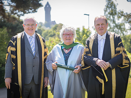 Students and a Dame honoured at Jim Naughtie's last graduations as Chancellor