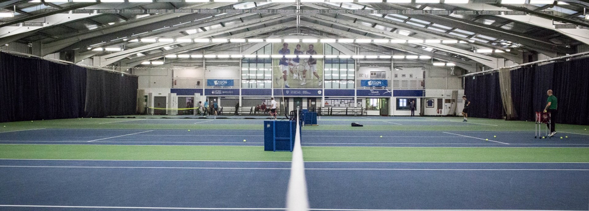 University of Stirling's tennis hall