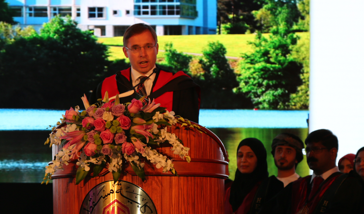 Celebrations as 50 graduate with Stirling degrees in Oman