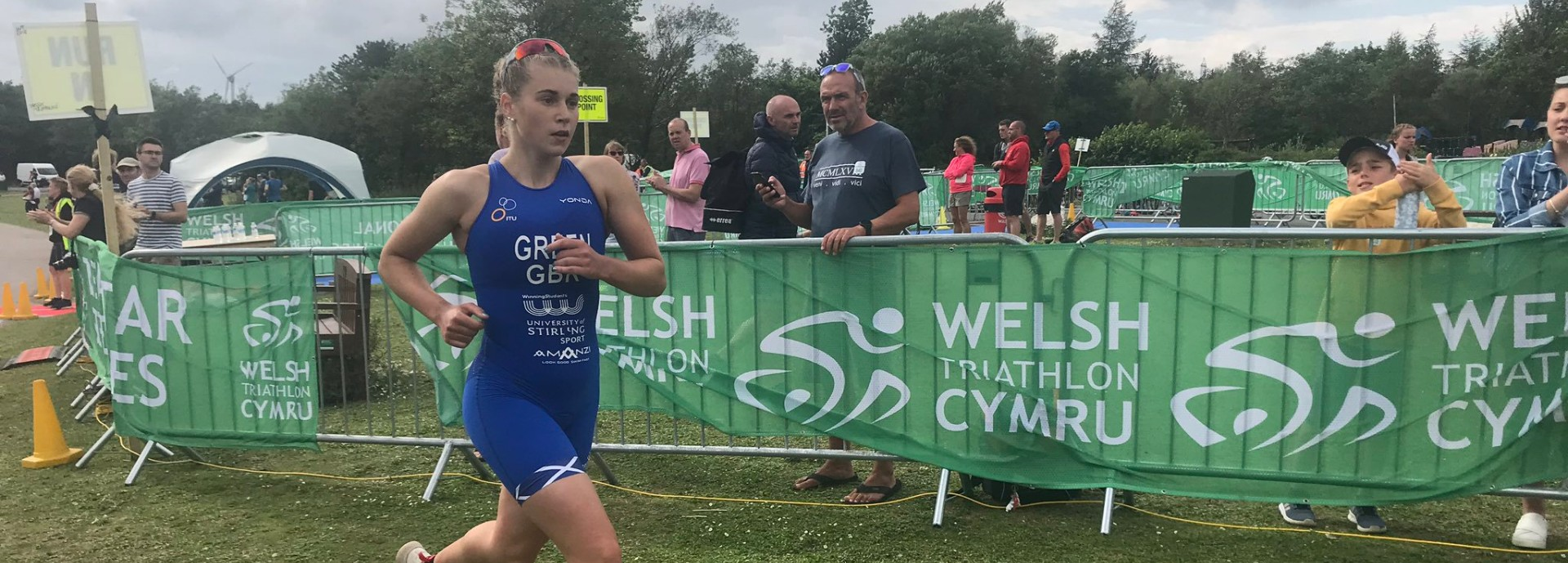Sophia Green running at the World Junior Championships qualifying event in Wales