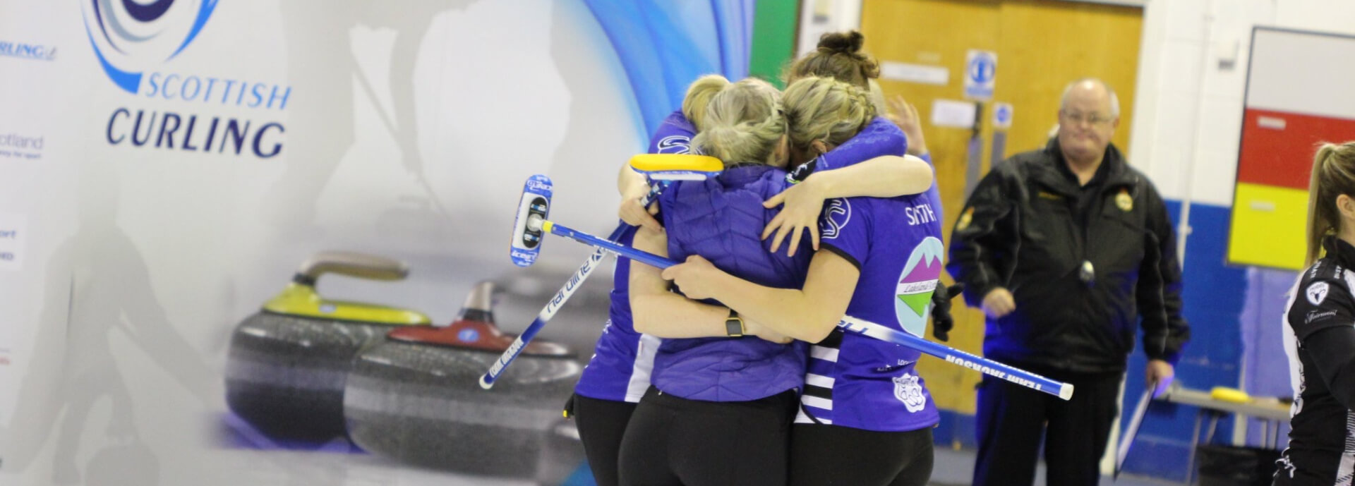 Team Jackson celebrating women's Scottish Curling Championship victory
