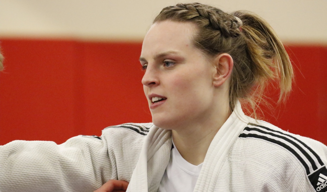 Rachel Tytler competing in judo