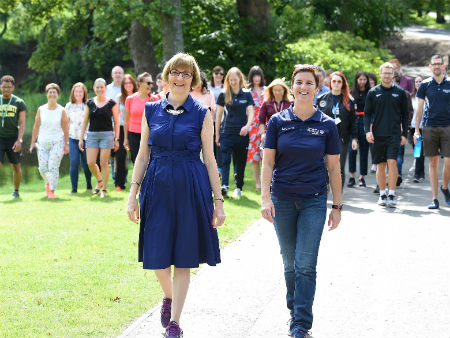 Stirling staff and students smash 'Walk to the Moon' challenge