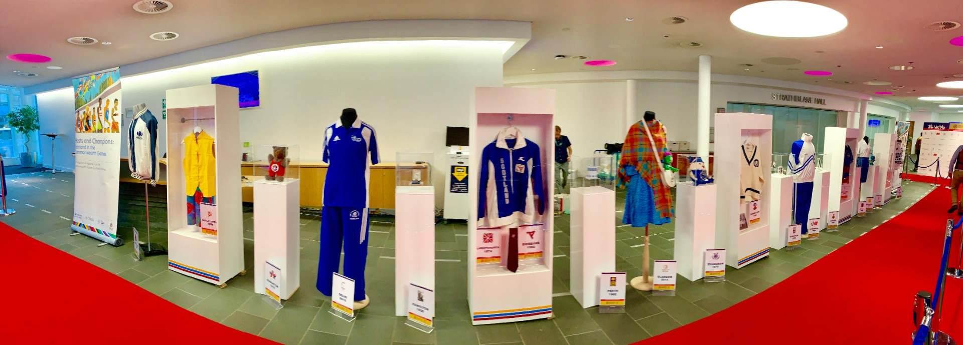 A selection of items from the Commonwealth Games Scotland Archive