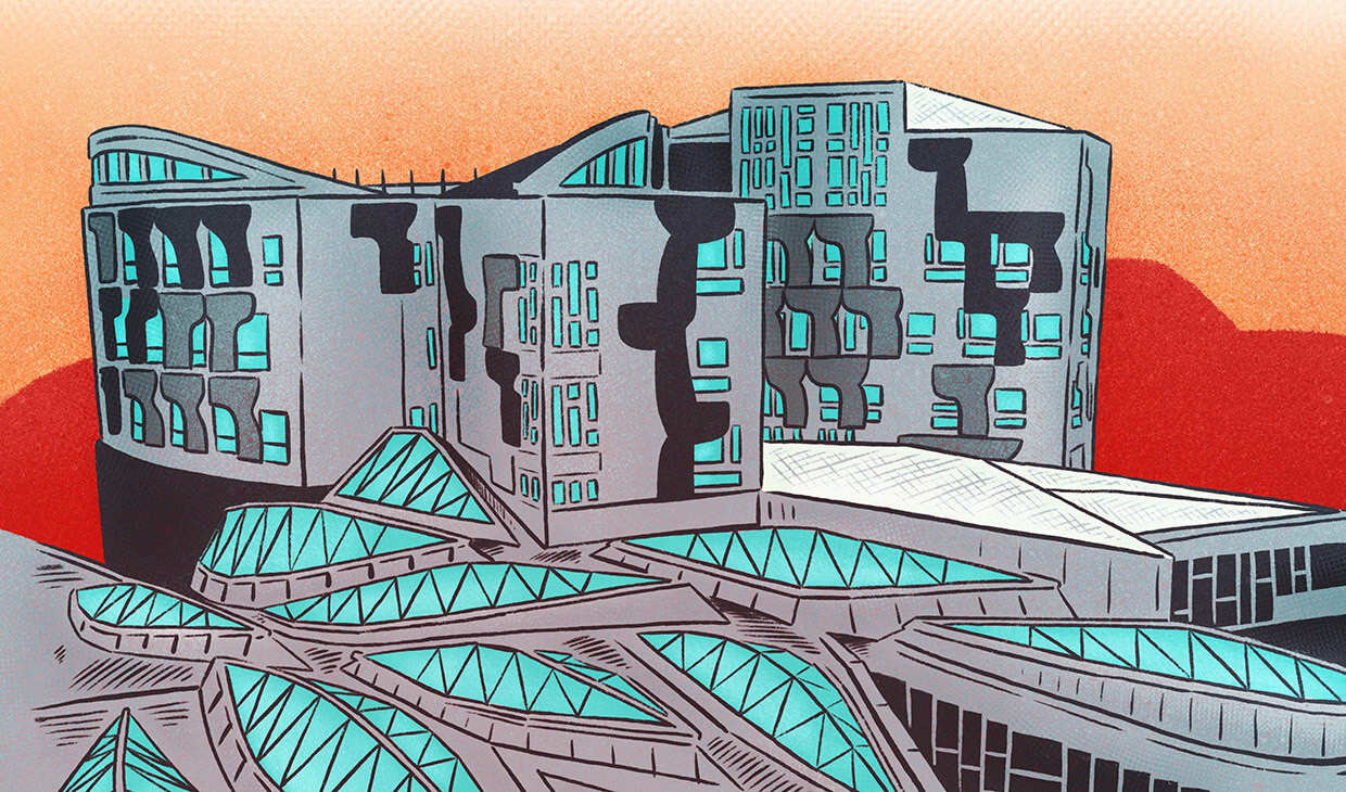 Scottish Parliament graphic novel image