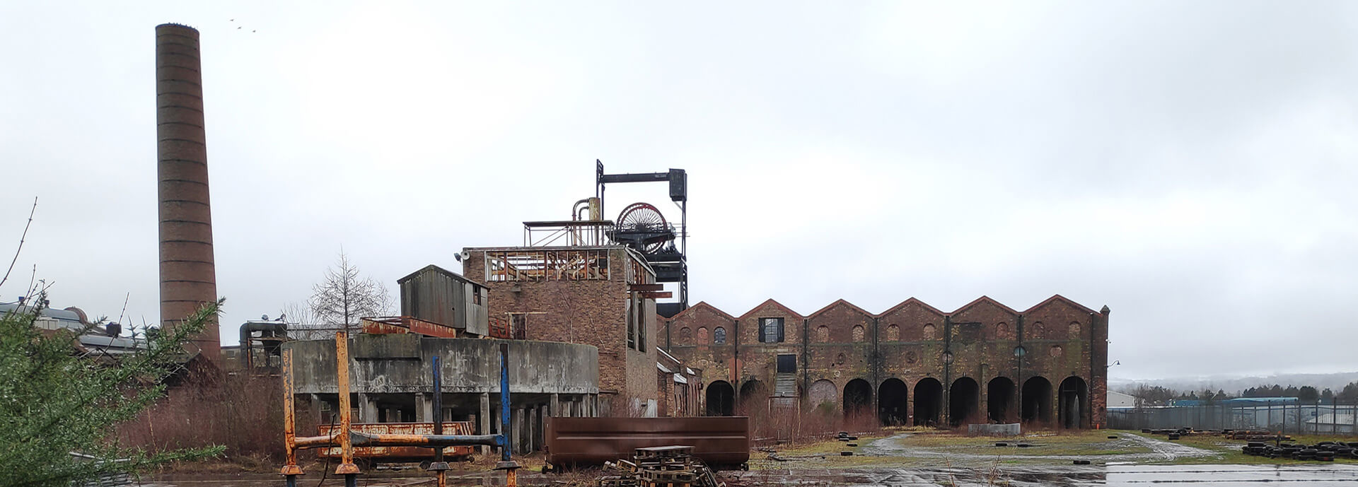 Abandoned and derelict coal mine