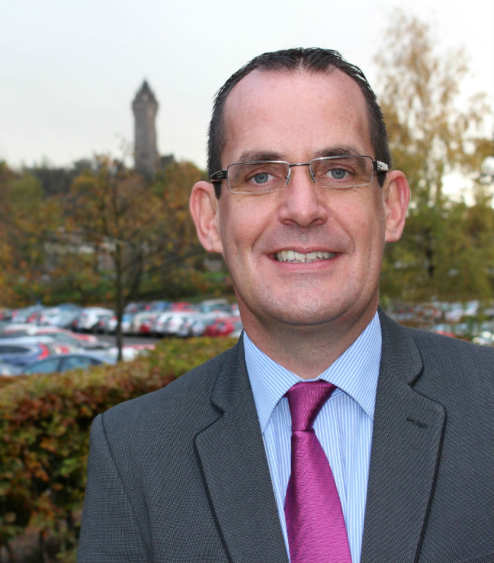 Liam Spillane, the new Director of Commercial Services at the University of Stirling.