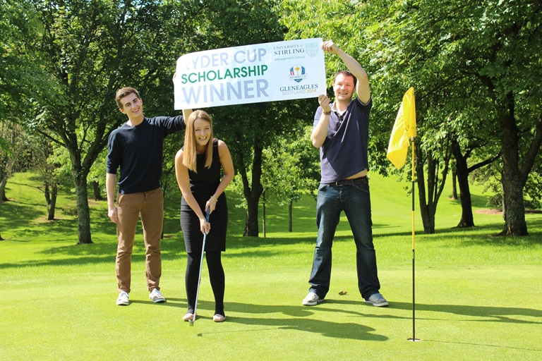 Four students at the University of Stirling were awarded prestigious Ryder Cup Scholarships