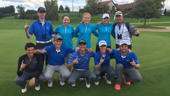 The victorious Stirling Golf Teams at the 2015 European University Championships