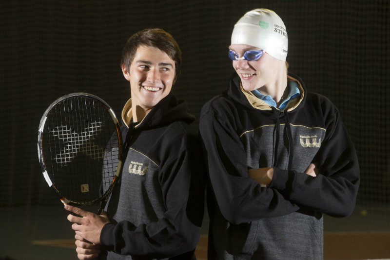 Tennis player Scott Duncan and swimmer Duncan Scott
