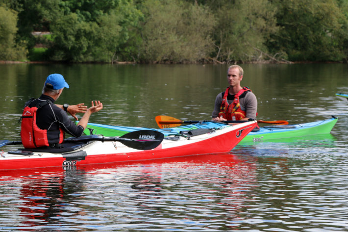 Canoe coaching at Stirling